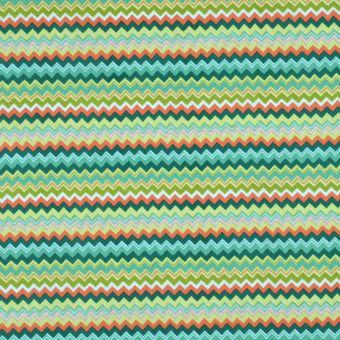 Tissu coton rayures crantées igor vert
