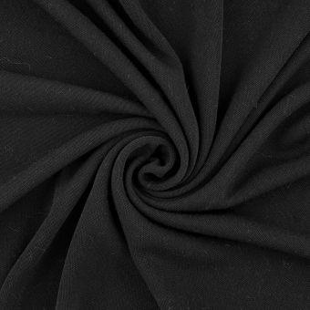 Tissu jersey polyester recyclé noir