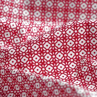 Tissu coton bio percale Cravatte fuchsia