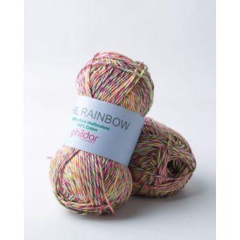Fil à tricoter Phildar rainbow néon