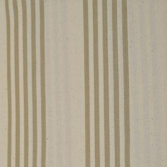 Tissu toile coton tissé-teint double enduction acrylique Cabana rayures beiges