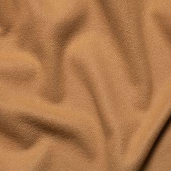 Tissu lainage manteau camel uni fait en Italie