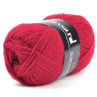 Pelote de fil à tricoter gagnante rouge vermillon - Plassard