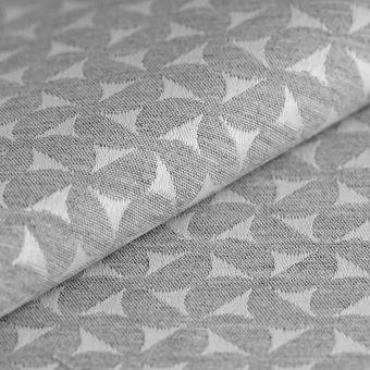 Tissu jacquard Moulin coton recyclé gris