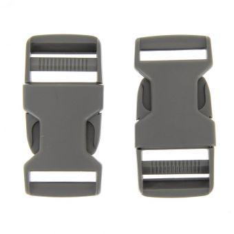 Boucles à ouverture rapide grises en plastique 25 mm
