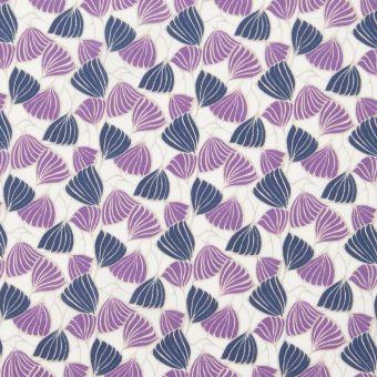 Tissu popeline de coton liberty deco wings violet