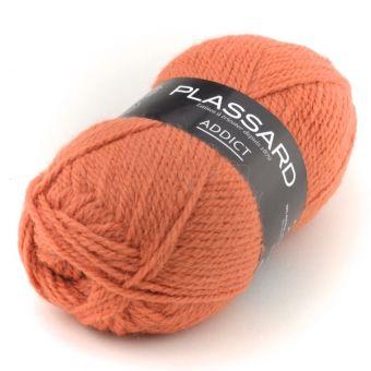 Pelote de fil à tricoter Plassard Addict orange