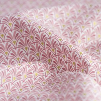 Tissu japonais éventails roses