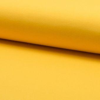 Tissu molleton sweat french terry extensible jaune