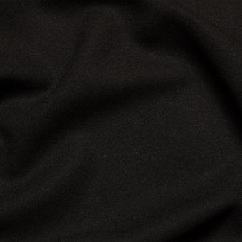Tissu crêpe de laine noir uni fait en Italie