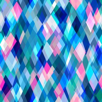 Tissu popeline de viscose Dashwood motifs losanges bleu