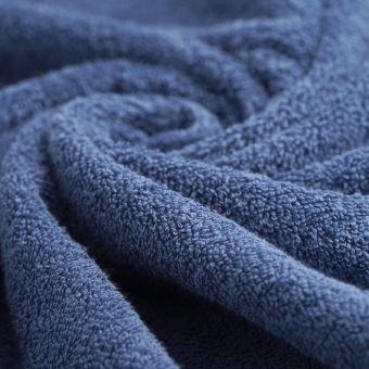Tissu éponge bio bleue