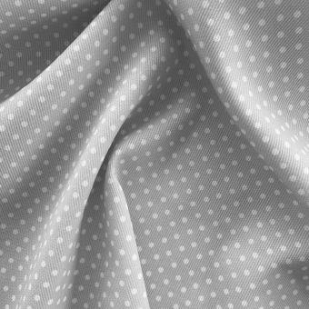 Tissu piqué de coton motifs pois gris