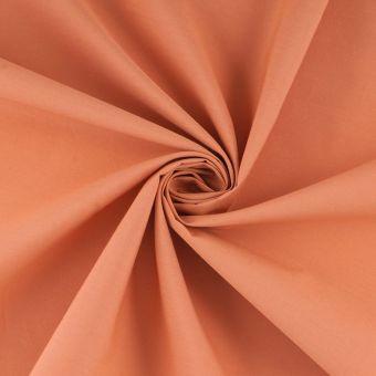 Tissu popeline coton uni orange