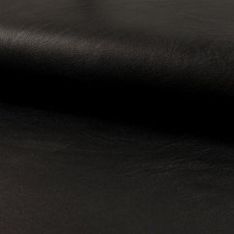 Tissu simili cuir brillant noir
