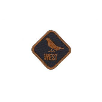Écusson thermocollant West noir et marron