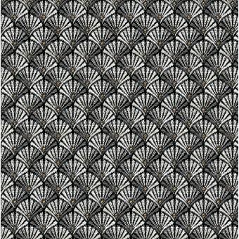 Tissu jacquard gris argent à motifs art déco arcade