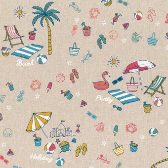 Tissu coton épais plage d'été multicolore