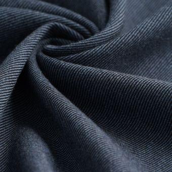 Tissu sergé Avoriaz lainage bleu orage