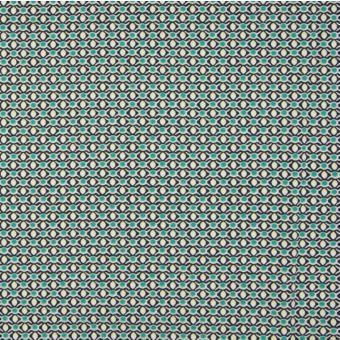 Maille jersey bio géométrie vert kaki