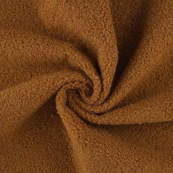 Tissu bouclette camel