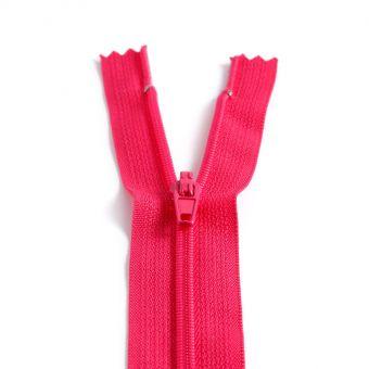 Fermeture polyester non séparable à glissière - fuchsia