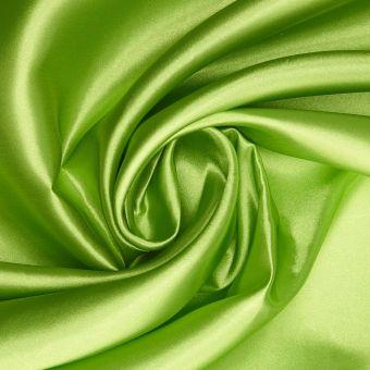 Tissu satin Lala vert clair uni