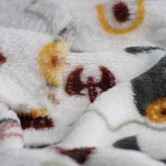 Tissu douillette blanc viking