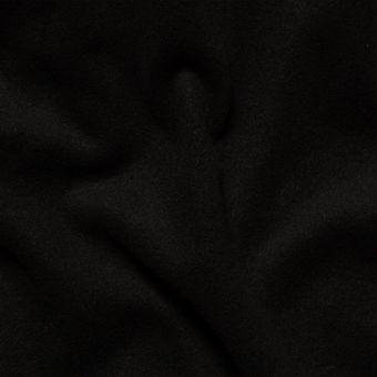 Tissu lainage manteau noir uni fait en Italie