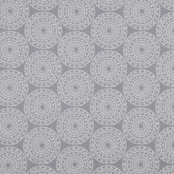 Tissu coton imprimé mandala gris