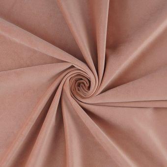 Tissu velours Decker rose