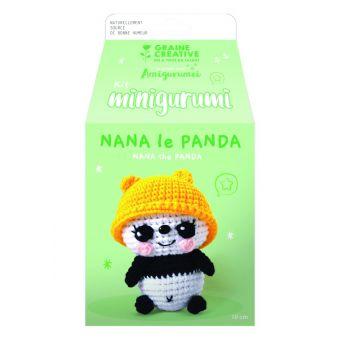 Kit mini amigurumi panda 100 mm