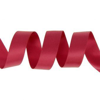 Ruban satin double face 15mm rouge bordeaux