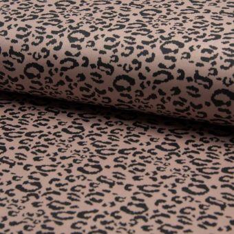 Tissu néoprène extensible léopard rose