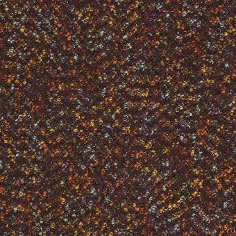 Tissu lainage tweed chocolat
