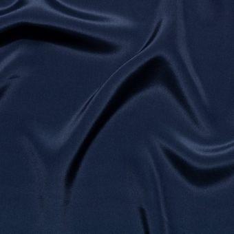 Tissu crêpe de soie bleu marine uni 100% Italie