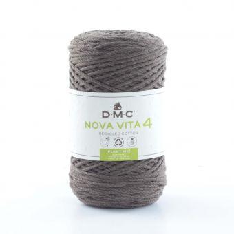 Pelote de fil Nova Vita 4 - coton recyclé marron n°112
