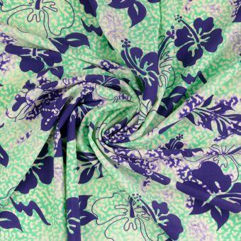Tissu maillot de bain fleurs
