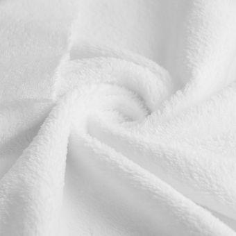 Tissu éponge bambou douce blanc