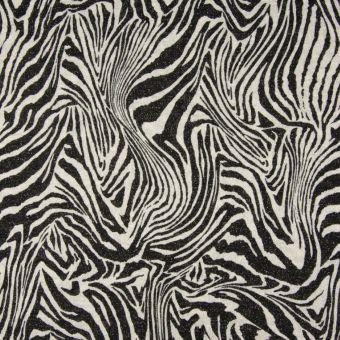Maille fantaisie brillante zèbre noir