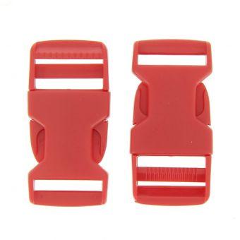 Boucles à ouverture rapide rouges en plastique 25 mm