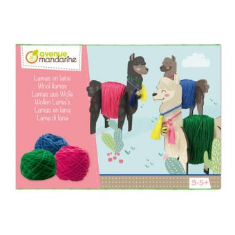 Boîte créative, Lamas en laine