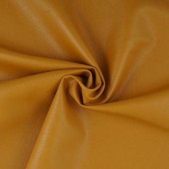 Tissu simili cuir ocre