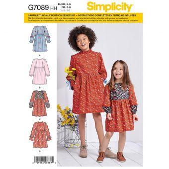 Patron Simplicity 7089 robe à variation de manches