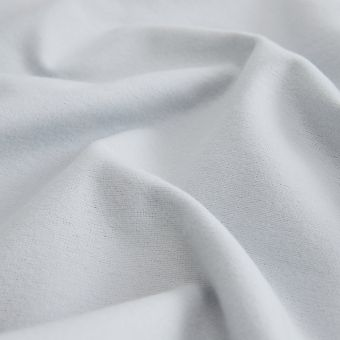 Tissu flanelle coton bio gris