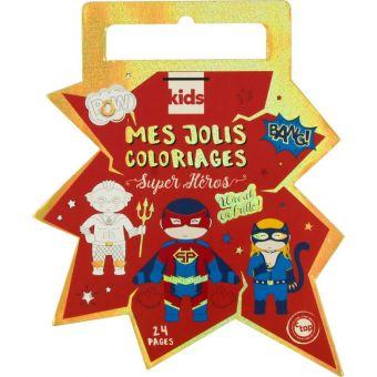 Carnet de coloriage enfant avec foil 24 pages Super Héros