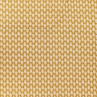 Coupon de tissu motif bourgeon fond jaune