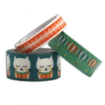 Masking tape chaton et montgolfière - Lot de 3 - Toga