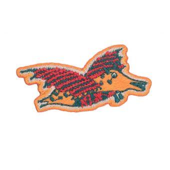 Écusson dinosaure orange