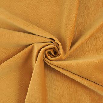 Tissu velours Decker jaune moutarde